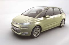 Citroën Technospace Concept: Die schon sehr seriennah wirkende Studie der Franzosen lässt erahnen, wie der neue C4 Picasso aussehen könnte. (Bild: PD)
