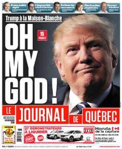 """Die kanadische Zeitung """"Le Journal de Québec"""". (Bild: Printscreen)"""