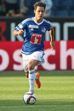 Luzerns Clemens Fandrich im Super League Spiel zwischen dem FC Luzern. (Bild: Philipp Schmidli)