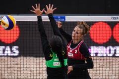 Die Schweizerinnen verloren am Freitagnachmittag mit 0:2 (20-22, 12-21). (Bild: FIVB)