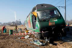 Der entstandene Sachschaden ist gemäss SBB noch nicht abschätzbar. (Bild: Keystone / Ennio Leanza)
