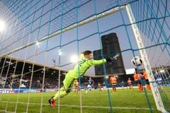 Luzern scheitert an Lausanne Sports Kevin Martin. (Bild: Philipp Schmidli / Luzerner Zeitung)