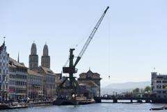 Platz 3: Hafenkran Zürich. (Bild: Keystone)