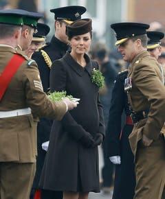 Der St.Patrick's Day war wohl einer der letzten offiziellen Termine der hochschwangeren Herzogin Kate. (Bild: Keystone)