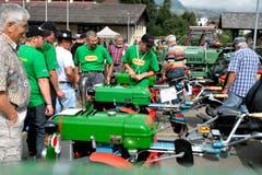 Der Verein «Rapid Fründe» aus Oensingen in Solothurn ist zum Treffen angereist. (Bild: Nadia Schärli (Neue LZ))