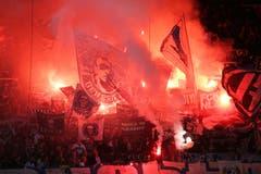 Pyros vor dem Super League Spiel. (Bild: Philipp Schmidli)