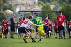 Beim «Game Day» in Luzern bestritten sechs Flag-Football-Teams je zwei Spiele, zudem massen sich mehrere U13- und U16-Mannschaften. (Bild: Dominik Wunderli (LZ))