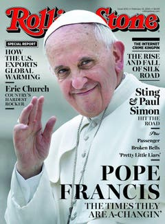 Ein Papst schafft es auf das Titelbild des Rolling Stone-Magzines... (Bild: Keystone)