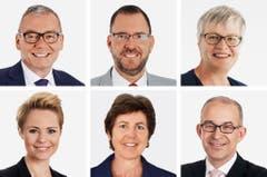 ZÜRICH (4/6) - (obere Reihe von links) Ruedi Noser (bisher), FDP; Hans-Peter Portmann (bisher), FDP; Rosmarie Quadranti (bisher), BDP. (untere Reihe von links) Natalie Rickli (bisher), SVP; Kathy Riklin (bisher), CVP; Gregor Rutz (bisher), SVP. (KEYSTONE/Parteien/Handout) - DIE PORTRAITS SIND NACH NAMEN GEORDNET === COMBO, HANDOUT, NO SALES === (Bild: Keystone / Handout)