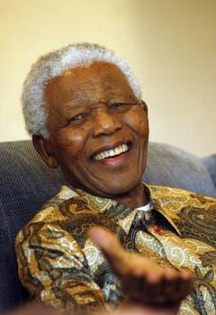 Nelson Mandela in Johannesburg im März 2007. (Bild: Keystone)