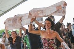 Manifestation für Trompetenbläser. (Bild: André A. Niederberger / Neue NZ)