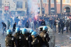Feyenoord's supporters in Rome (Bild: Keystone)