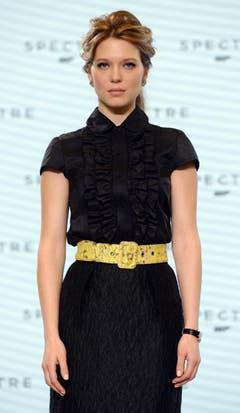 Auch die Ankündigung des neuen Bond-Girls war mit Spannung erwartet worden. Regisseur Mendes wählte die 29-jährige Französin Léa Seydoux («La vie d'Adèle») aus... (Bild: Keystone)