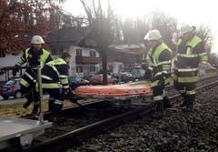 Rettungskräfte im Einsatz. (Bild: PAUL WINTERER)