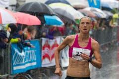 Hellebardenlauf Sempach Susanne Ruegger aus Cham war schnellste Frau (Bild: Beat Blättler)