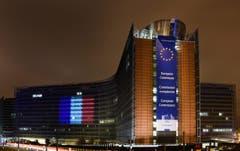 Der Sitz der EU-Kommission in Brüssel. (Bild: EPA/ETIENNE ANSOTTE)