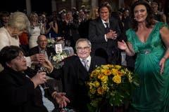Den Ehren-Prix-Walo erhielt der Schauspieler, Autor, Erzähler, Hörspiel-Produzent und Regisseur Jörg Schneider. Er machte sich in zahlreichen Aufführungen, aber auch in der TV-Soap «Lüthi und Blanc» einen Namen. (Bild: Keystone)