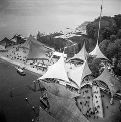 Blick auf das Expo-Gelände in Lausanne (Bild: Keystone / Str)