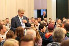 Gesprächsleiter Markus von Rotz (Bild: Roger Zbinden / Neue NZ)