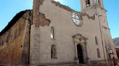 The Cathedral of Santa Maria Argentea is destroyed in Norcia, Italy, after an earthquake with a preliminary magnitude of 6.6 struck central Italy, Sunday, Oct. 30, 2016. Central Italy was hit by another powerful earthquake Sunday, toppling buildings that had recently withstood other major quakes and sending panicked residents back into the streets, but causing no immediate loss of life. (Matteo Guidelli/ANSA via AP) (Bild: Keystone)