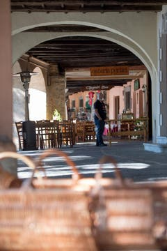 Eine Osteria in Morcote (Bild: Pablo Gianinazzi / Keystone)
