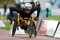 Marcel Hug im Rollstuhlrennen (Bild: Philipp Schmidli)