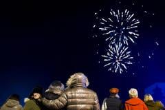 Feuerwerk in Veyvey (Bild: Keystone)