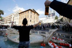 ITALY SOCCER FEYENOORD FAN TROUBLE (Bild: Keystone)