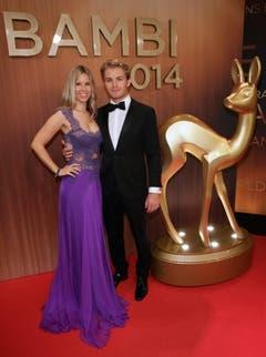 Formel-1-Fahrer Nico Rosberg mit Freundin Vivian Sibold. (Bild: Keystone)