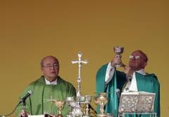Pope Francis Sunday Mass on Revolution Square in Havana (Bild: Keystone)