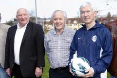 Karl Odermatt, Köbi Kuhn und Rifet Begovic (von links). (Bild: Werner Schelbert / Neue ZZ)