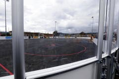 Die Oberwil Rebells haben ihr neues Spielfeld im Herti Nord eingeweiht. (Bild: Werner Schelbert)
