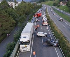 Es kam zu einem langen Rückstau. (Bild: helinews.ch)