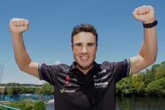 ... auch der fünffache Triathlon-Weltmeister Javier Gomez... (Bild: EPA / Eliseo Trigo)