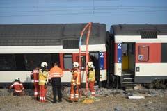 Die SBB bedauert den Unfall sehr, wie Jeannine Pilloud, Leiterin SBB Personenverkehr, am Freitagmorgen in Rafz vor den Medien sagte. (Bild: Keystone / Ennio Leanza)