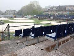 Auch beim 97. Zuger Kantonal-Schwingfest schneit es mittlerweile. (Bild: Claudio Zanini / Neue LZ)