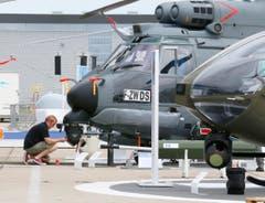 Der französische Airbus Helicopter H225 M in der Wartung. (Bild: Jacques Brinon)