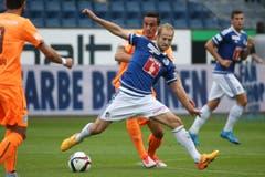 Mittelfeld: Migjen Basha, Note 3,5Der Schweiz-Rückkehrer aus der Serie A konnte bisher nicht überzeugen. Mit Albanien kann er an die EM, beim FCL hat er Steigerungspotenzial.7 Spiele, 4-mal in Startelf, 297 Minuten. 0 Tore/0 Assists. (Bild: Philipp Schmidli)