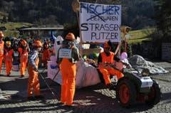 Aus Fischer Bettwaren wurden die Strassen Feger. (Bild: Birgit Scheidegger (OZ))