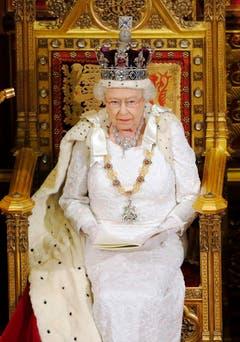 Eine Königin von Format, hier 2014 im Englischen Parlament. (Bild: Keystone)