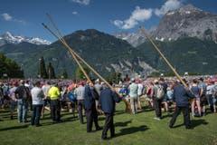Auch die Alphörner durften natürlich nicht fehlen. (Bild: Pius Amrein)