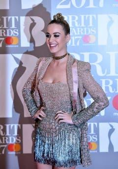Katy Perry bei ihrer Ankunft. (Bild: Keystone)
