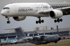 Ein Airbus A350 bei der Landung. (Bild: Francois Mori)