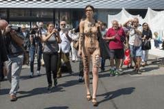 Platz 2: Die Schweizer Nacktkünstlerin Milo Moiré. (Bild: Keystone)