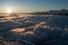 Auf dem Niesen, 2362 Meter über Meer. (Bild: Keystone)
