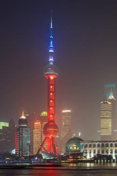 Der Oriental Pearl Tower in Shanghai. (Bild: EPA/XIAO GANG)