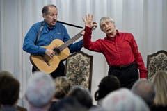 Dimitri und Roberto (links) sangen 2014 Tessiner Lieder im Kunst- und Kulturzentrum Littau. (Bild: Pius Amrein)