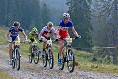 Dietsch vor Huber und Stauffer links Dafflon nach Lütholdsmatt. (Bild: PD)