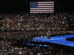 Barack Obama in Chicago bei seiner Rede nach seiner Wiederwahl. (Bild: Keystone)