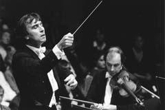 Claudio Abbado 1982 an den Internationalen Musikfestwochen - heute Lucerne Festival - in Luzern. (Bild: Archiv / Neue LZ)